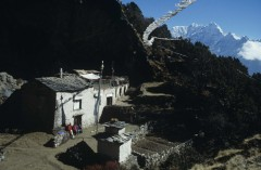 High in the mountains of Nepal, built onto the the entrance of a cave is the home of Charok Rinpoche