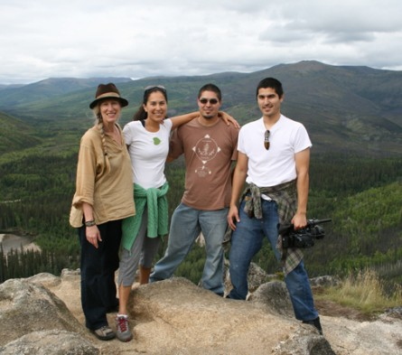 Cynthia Jurs with siblings Princess, Evon, and Odin Peter-Raboff on a Mountain Hike in Arctic Alaska