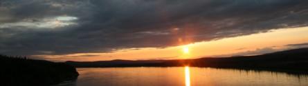 Sunset on the Yukon River, Alaska