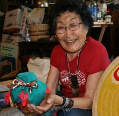Grandma Rita with the Alaska Earth Treasure Vase