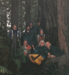 """Wendy and the activists snuck into Headwater Forest to bury the Earth Treasure Vase dedicated to the protection of """"the elders"""""""