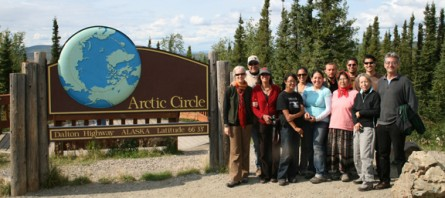 Earth Treasure Vase Pilgrimage group at the arctic circle