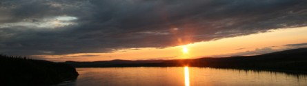 Sunset on the Yukon River, Alaska
