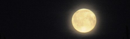 This huge full moon rose in the sky the night that followed the burial of the Earth Treasure Vase in Alaska
