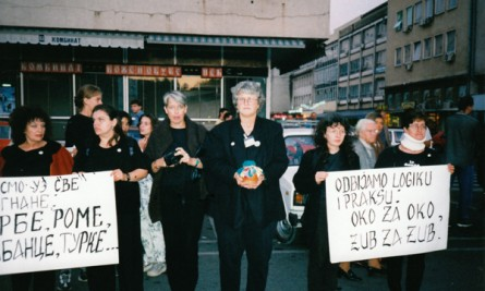 kosovo women's vigil and Earth Treasure Vase ceremony