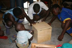 Youth decorate the earth treasure vase box